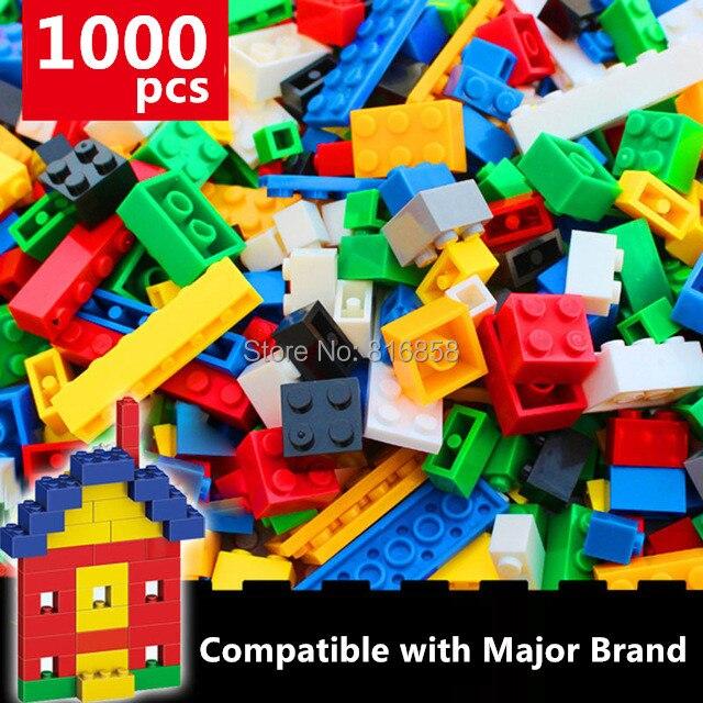 NEW 1000pcs Basic Bricks Bulk Building Blocks Parts DIY Toys Compatible 80pcs 2x2 basic high bricks 2 2 4 holes diy building blocks toys
