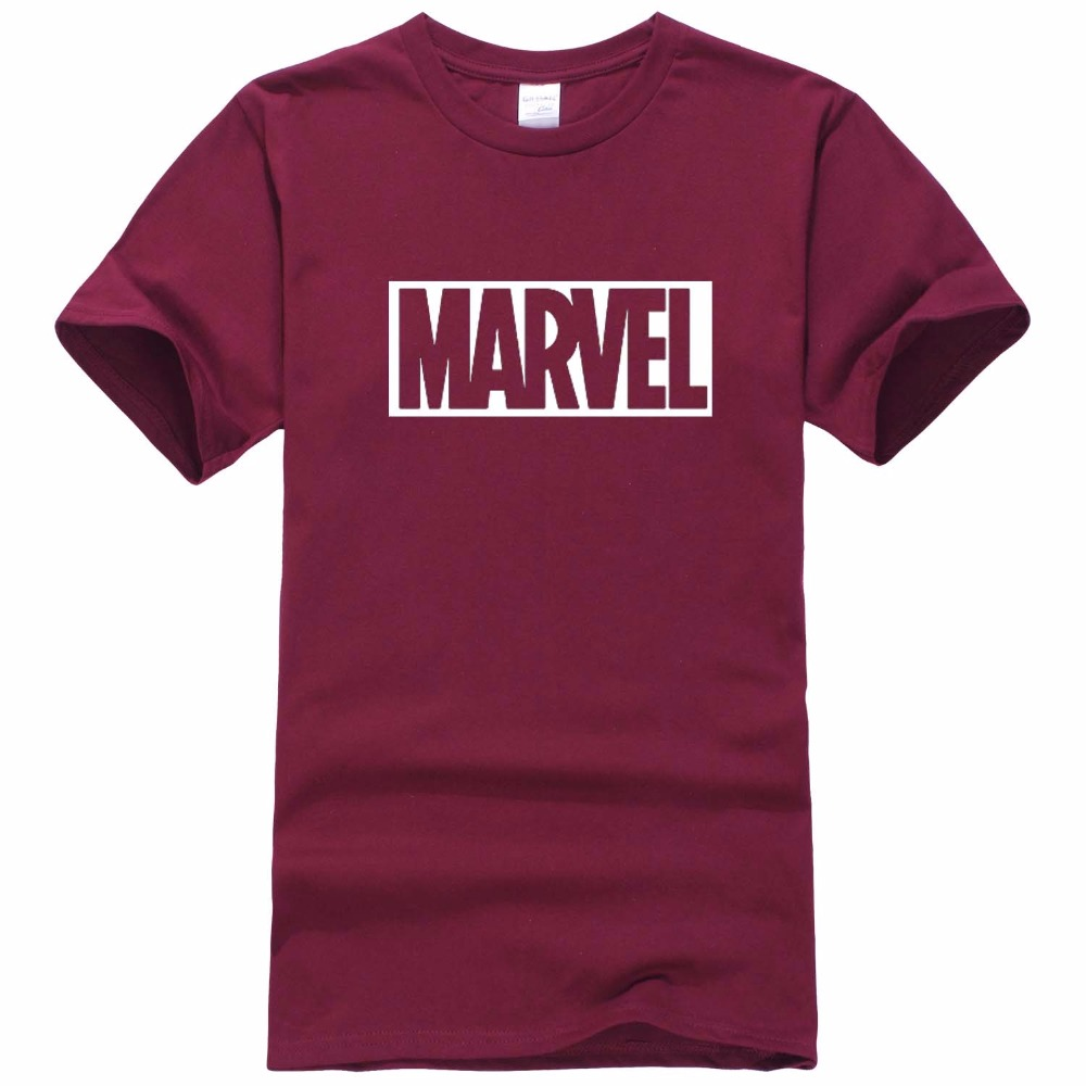 2017 New Fashion MARVEL   t  -  Shirt   men cotton short sleeves Casual male tshirt marvel   t     shirts   men tops tees Free shipping