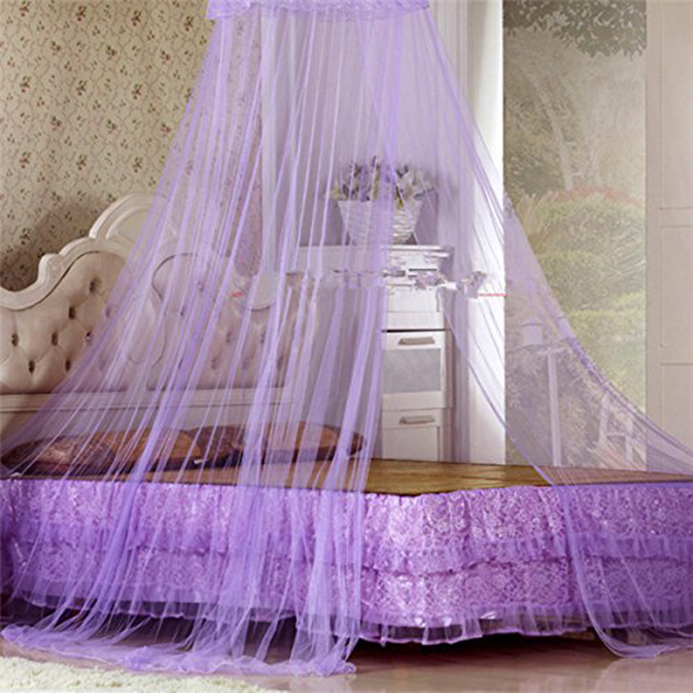 Online Shop Hot Round Elegent House Bed Netting Canopy Lace Summer Princess Mosquito Net Malla White Purple | Aliexpress Mobile & Online Shop Hot Round Elegent House Bed Netting Canopy Lace Summer ...