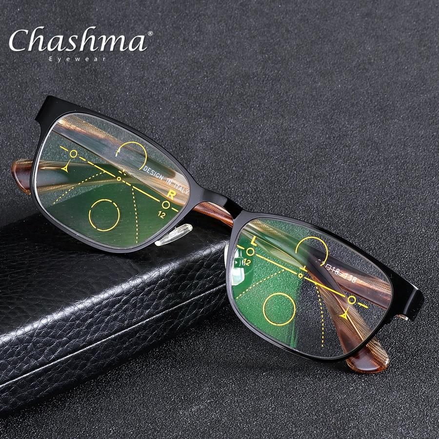 CHASHMA marca lente Multifocal progresiva gafas De lectura hombres  Presbyopia Hyperopia Bifocal gafas deportivas TR90 Oculos De Grau en Gafas  de lectura de ... 5680e7beb2