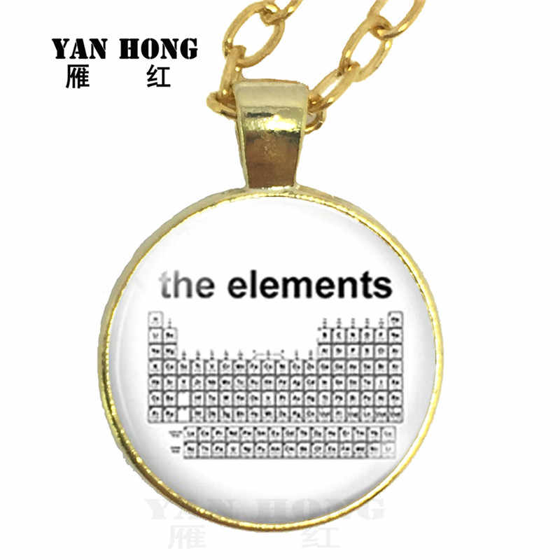 Chemistry Necklace Glass Pendant Necklace science experiment chemistry molecule, sweater Necklace friends are very fond of