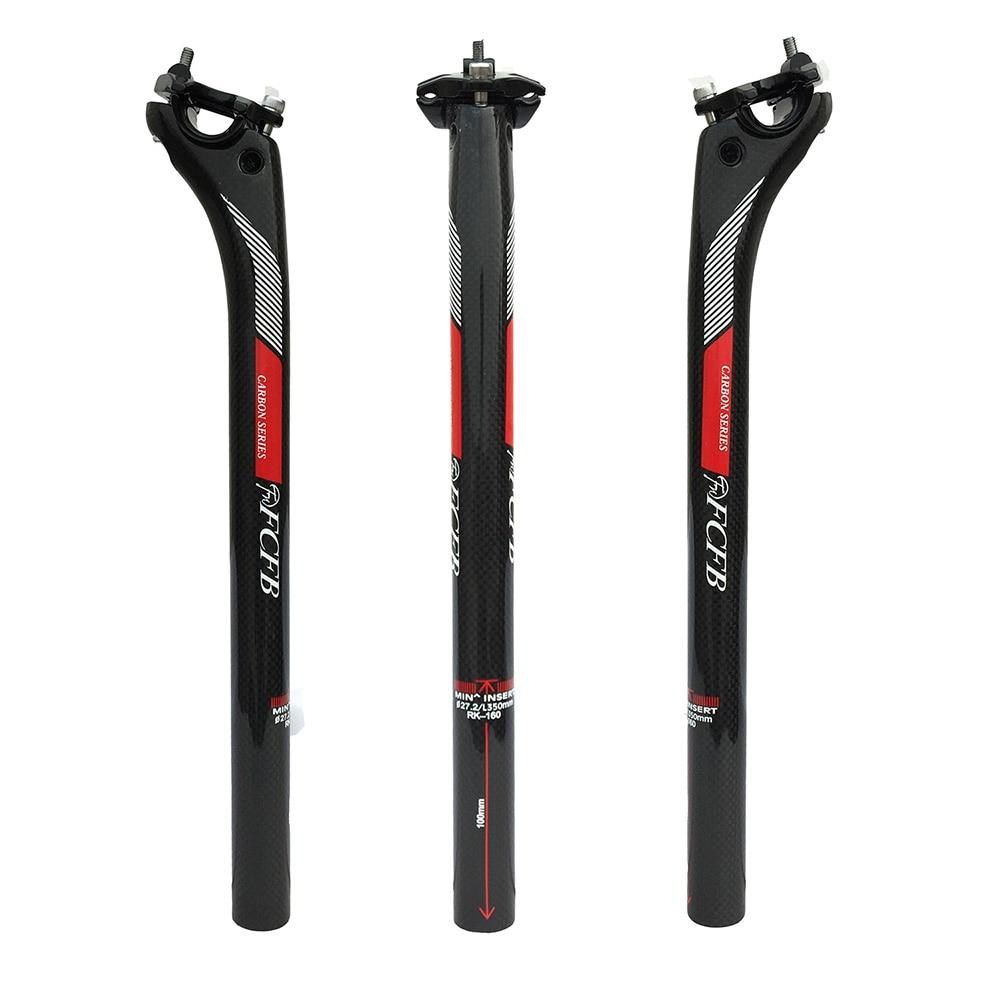 Супер легкий FCFB FW сзади 20 мм углерода подседельный 27.2/30.8/31.6*350/400 мм углеродного части велосипеда MTB Подседельный штырь Дорога углерода подсе...