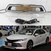 turn signal relay car styling waterproof 12V LED CAR DRL Daytime running lights fog lamp cover For Toyota Camry 2018 2019