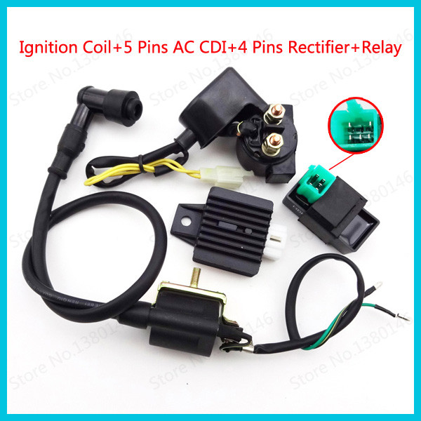 F FIERCE CYCLE 5 Pin DC 12V CDI Box Igniter with Wire for Motocycle Motorbike
