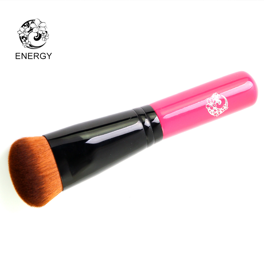 ENERGY Brand Professional Foundation Brush Synthetic Hair Wood Handle Pink Makeup Brushes Make Up Brush Pincel Maquiagem Pinceis