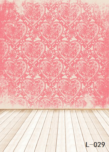 Heart Valentine Backdrops Photography wood floor Studio Photo Backgrounds Love romantic Vinyl Backdrops wedding L029