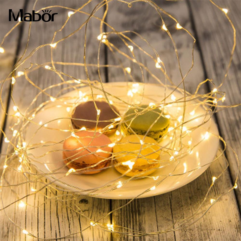 Christmas Decoration For Home Light Copper Wire LED String Light Wedding Garland LED Lamps Christmas Tree Ornaments Decor