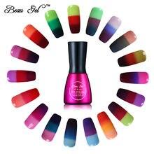 Beau гель 7 мл гель лак для ногтей гель для ногтей Хамелеон Температура Изменение цвета лака для ногтей тепловой изменение цвета UV Гель лак(China (Mainland))