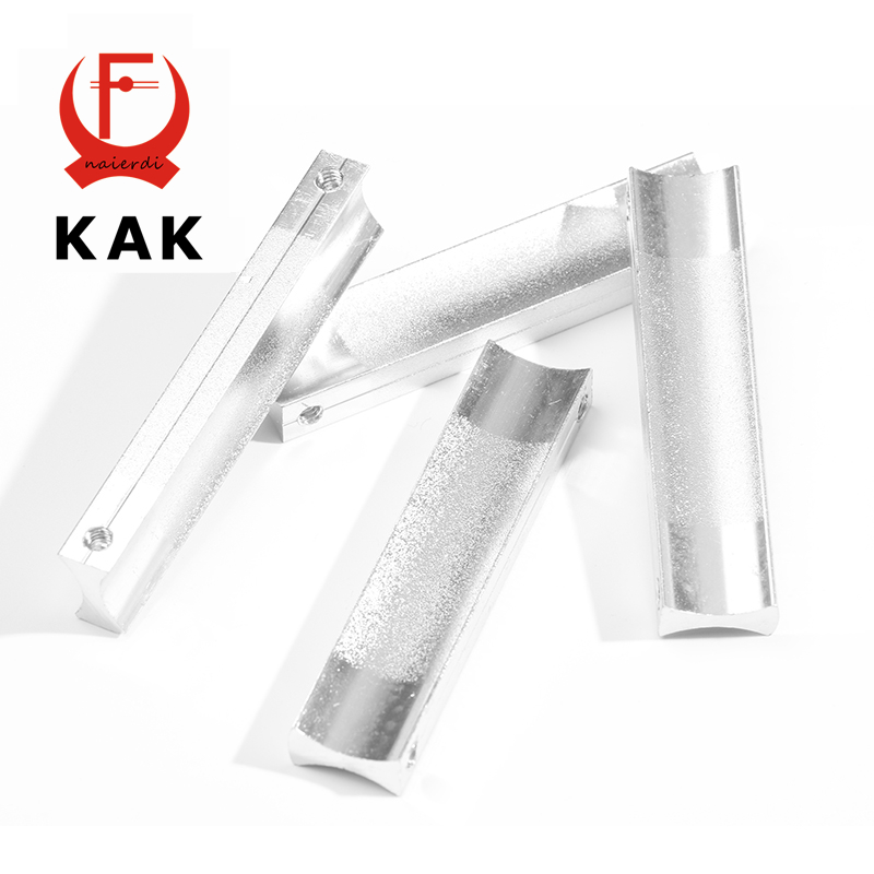 KAK 64MM Aluminum Handles Kitchen Door Cupboard Modern Wardrobe Handle Drawer Pulls Cabinet Knobs With Screw Furniture Hardware