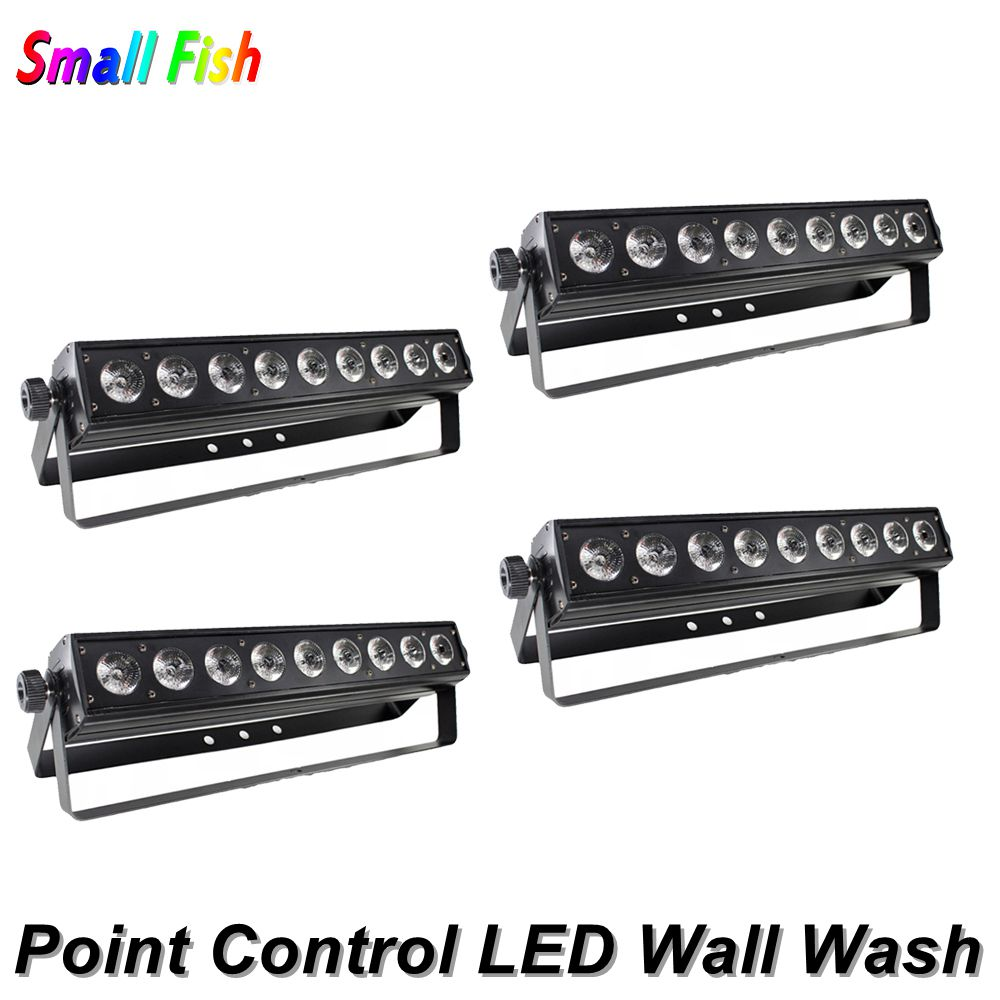 9X10W RGBW 4IN1 LED Bar Wall Wash Light DMX512 Washer /Flood Light DJ /Bar /Party /Show /Stage Light Point Control Dj Lighting