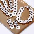 Мода 925 серебряных ювелирных изделий устанавливает, Грубый круг цепи, Серебряное ожерелье, Браслет, Серебряные серьги S020
