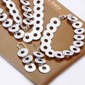 Moda 925 plata de la joyería, cadenas tosco círculo, collar de plata, pulsera, pendientes de plata S020