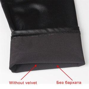 Image 5 - CHRLEISURE Legging chaud en Faux cuir pour femme, taille haute, Slim, 5XL