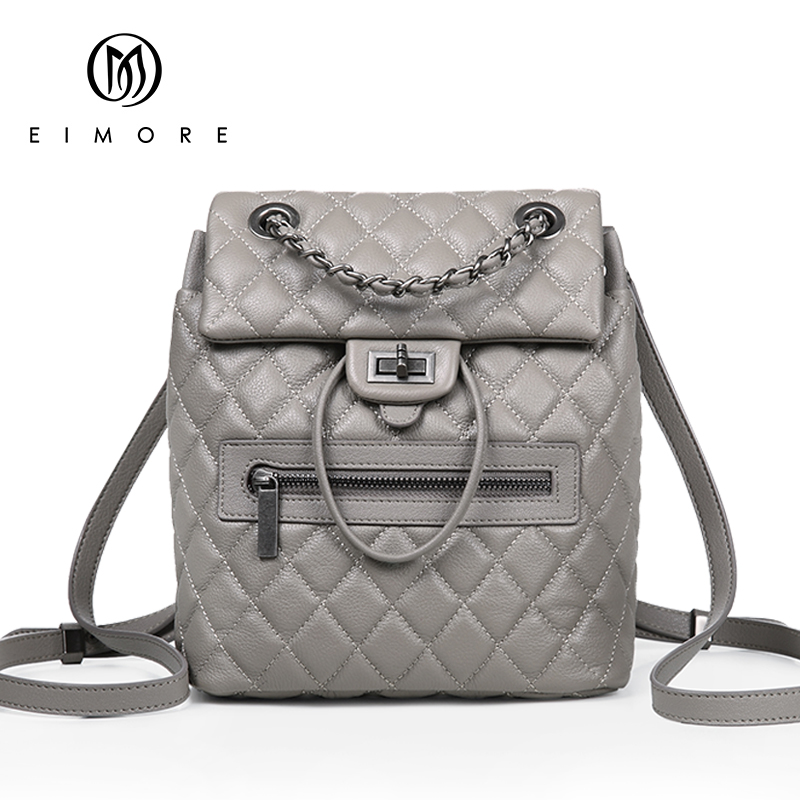 EIMORE Desinger Genuine Leather Backpack Women Bags Female Casual Dailypack Womens School Bags Backpacks For Teenage GirlsEIMORE Desinger Genuine Leather Backpack Women Bags Female Casual Dailypack Womens School Bags Backpacks For Teenage Girls