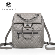 EIMORE Desinger Genuine Leather Backpack Women Bags Female Casual Dailypack Womens School Bags Backpacks For Teenage Girls