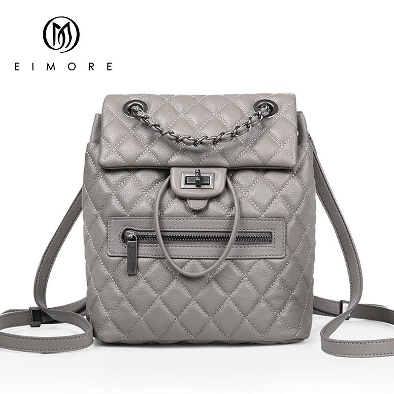 EIMORE Desinger sac à dos en cuir véritable femmes sacs décontracté Dailypack femmes sacs d'école sacs à dos pour adolescentes