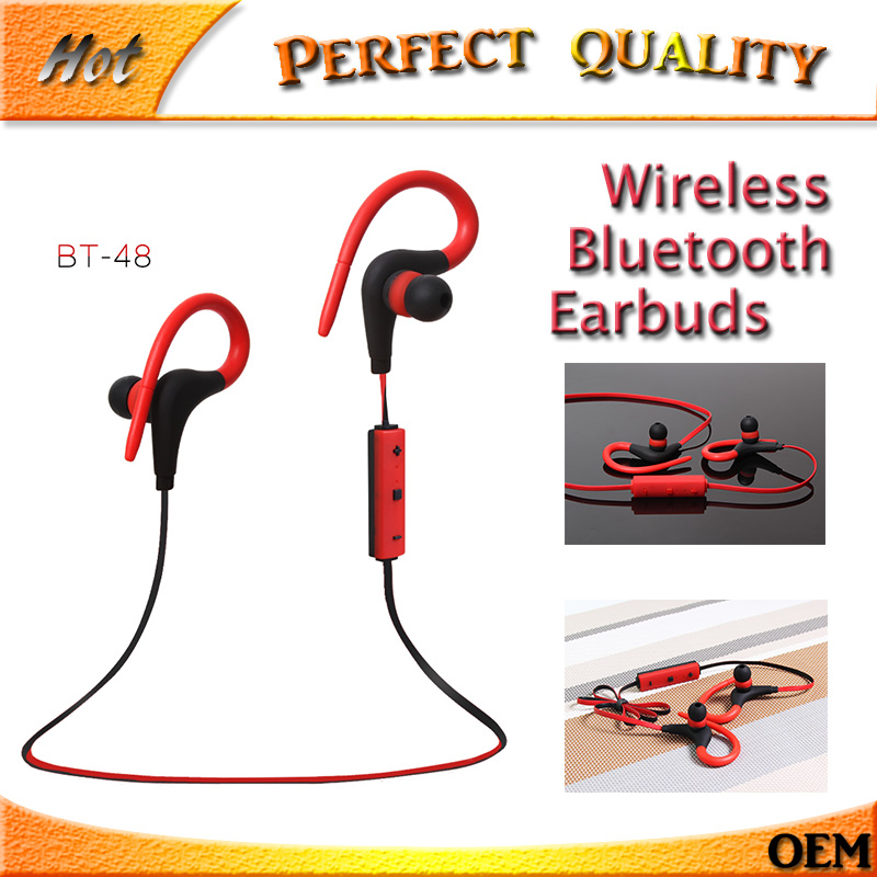 Free 2017 Sport Wireless Music Bluetooth Headset with Microphone Hifi Stereo Earbuds for Handsfree Business Bluetooth Earphone wireless bluetooth sports headset earphone hifi microphone stereo music earbuds earpiece neckhang with rechargeable battery