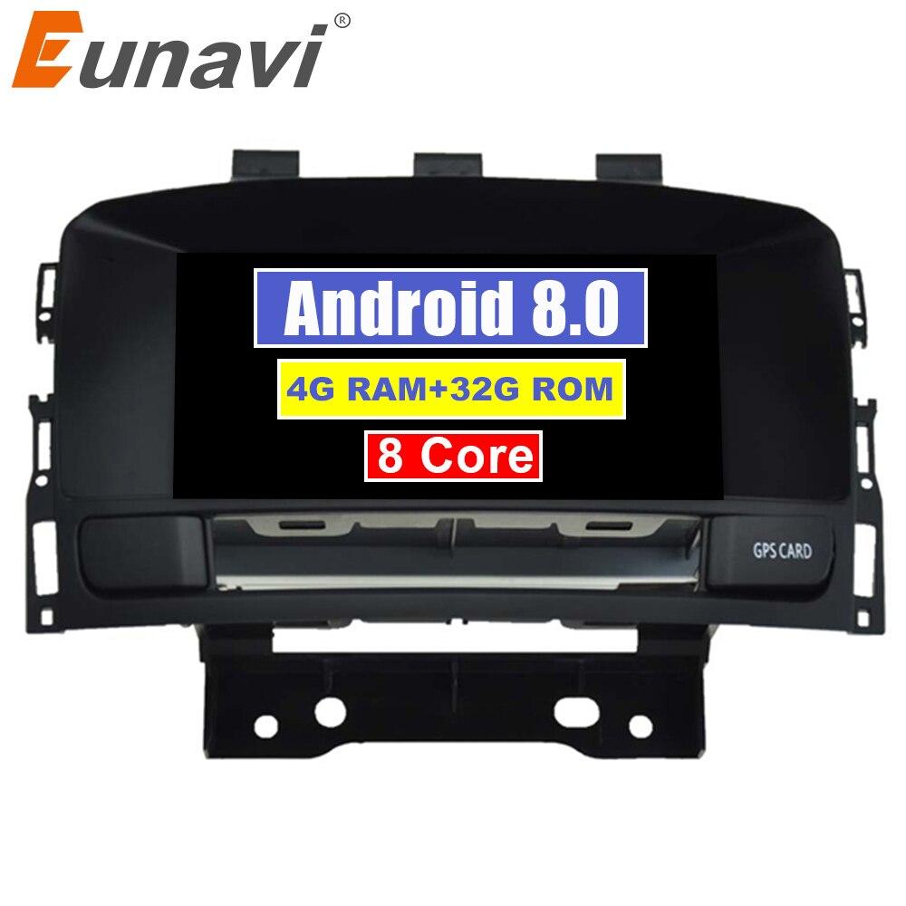 Eunavi Восьмиядерный 4 Гб ОЗУ Android 8,0 автомобильный dvd плеер для система навигации для Buick Verano VAUXHALL OPEL Astra J автомобильный навигационный GPS радиопр