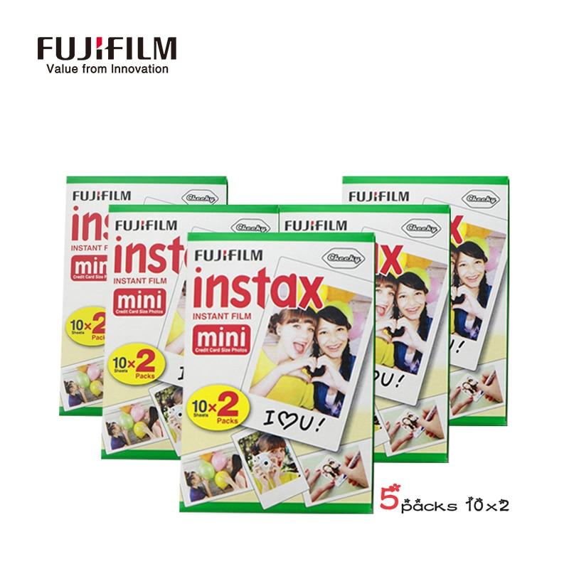 Galleria fotografica Fujifilm Instax Mini 9 8 7s 25 50s 90 Film 100 Sheets Fuji Instant Photo Camera Mini White Edge 3 inch film Paper instax-mini-9