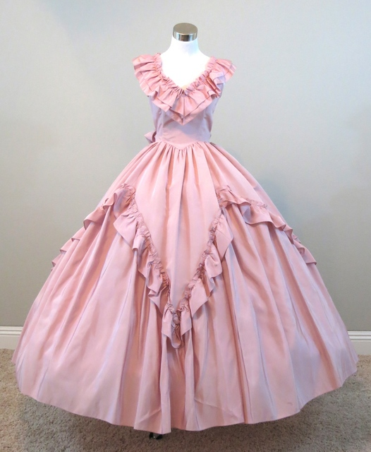 Dusty Pink Ball Gown Gothic Clothing punk Clothing Victorian Costume ...