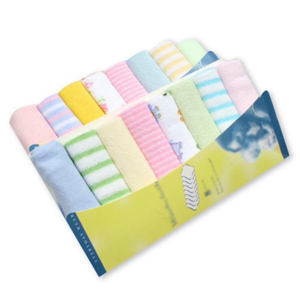 8PC/Package Muslim Cotton Newborn Baby Towel Baby Wash Cloth Square Handkerchief Saliva Bib Care Towel Baby Wash Towel Newborn
