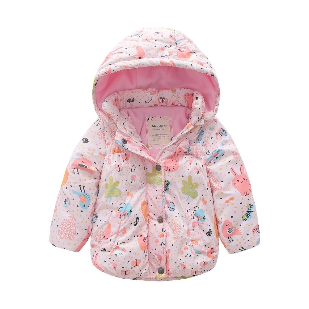 все цены на M122 Winter Child Thicken Warm Padded Lining Jacket Print Hooded Boys Parka Coats Kids Tops Spring Autumn Outwear Girls Jacket