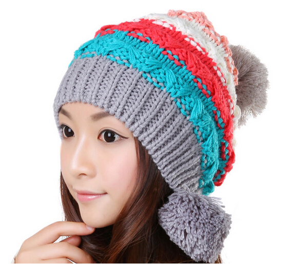 BomHCS Cute Winter Warm Woolen Ear Muff Knitted Hat Women Cap Woman Beanie Crochet Skully Hats spring summer women casual shoes fashion canvas mother driving shoes breathable flat with shoes apple patchwork canvas