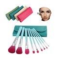 9 UNIDS explosión Pincel de Maquillaje Maquillaje Cepillo conjunto de herramientas pincel de Maquillaje de Belleza herramienta de Maquillaje de color 4 color de moda portátil cepillo