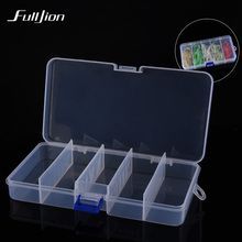 Bait Box for Fishing Lures Hooks Other Fishing Tools Transparent Plastic Storage Box Tackle Bait Container Case Outdoor Sports