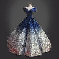 Блестящий Жемчуг и цветные платья маятник бальное платье Плиссированное точечное платье костюм Ренессанс синее платье