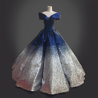 Shiny Pearls and Coloured Dresses Pendulum Ball Gown Pleated Dotted Gown Costume Renaissance Blue Dress