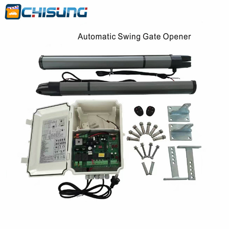 Electronic automatic Swing Gate Opener Motor max weight 200kg Dual Arm 2m DC 12v/24v motor with limit switch galo electronic automatic swing gate opener motor max single leaf weight 200kg dual arm 2 5m dc 24v motor
