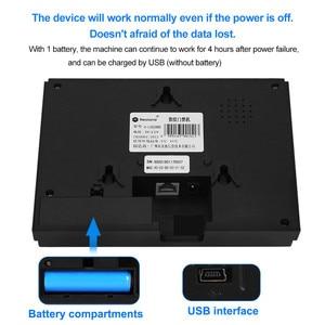 Image 5 - Биометрическая система учета отпечатков пальцев OBO, 2,8 дюйма, TCP/IP, Wi Fi, RFID считыватель карт, пароль для входа сотрудника