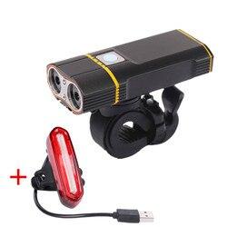 Nowy rower 1600 lumenów latarka LED USB akumulator lampa reflektorów lampy rowerowe kierownica z światło tylne zestaw w Oświetlenie rowerowe od Sport i rozrywka na