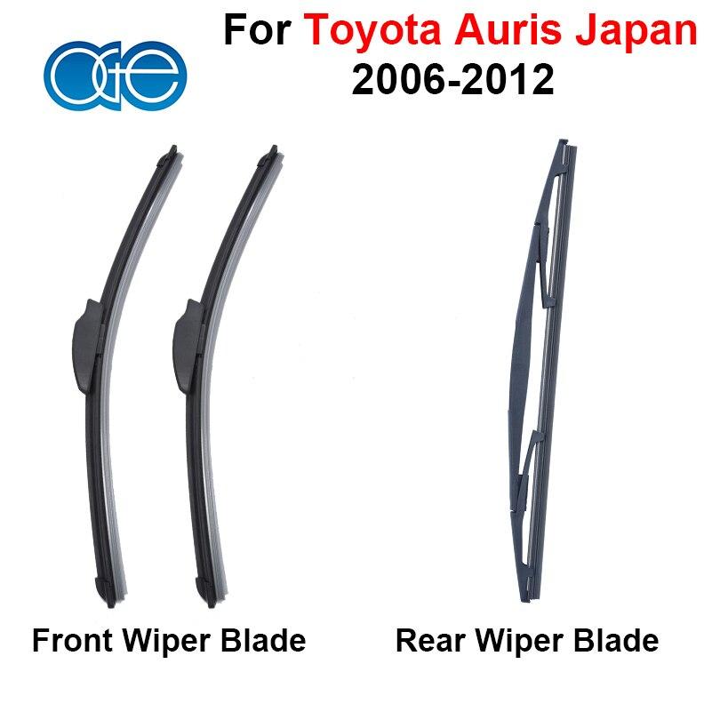 Prix pour Avant Et Arrière Lames D'essuie-Glace Pour Toyota Auris Japon 2006-2012 Haute Qualiy En Caoutchouc Pare-Brise Pare-Brise De Voiture Accessoires