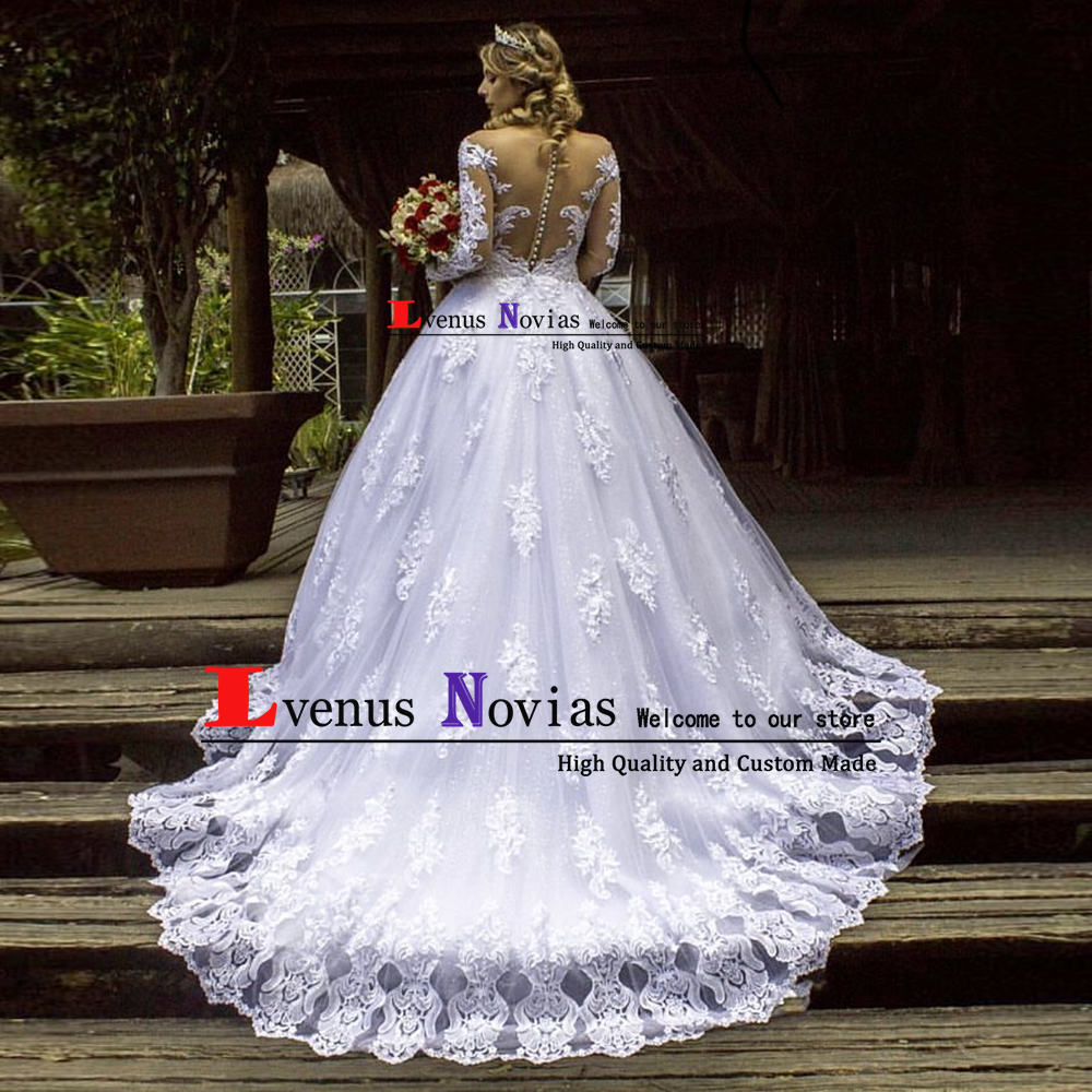 Vestido De Noiva Gelinlik Sexy bohemian Lace Long Sleeve Ball Gown Wedding  Dress 2019 Bride Dress robe mariage Abito da sposa-in Wedding Dresses from  ... c62442f656c7