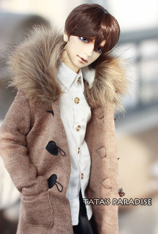 Fashion camel coat  For BJD 1/4 MSD,1/3,SD17, Uncle Doll Clothes Accessories