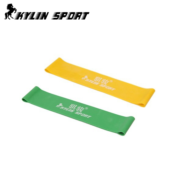 blue and yellow combination latex resistance bands workout exercise pilates yoga bands loop wrist ankle elastic belt