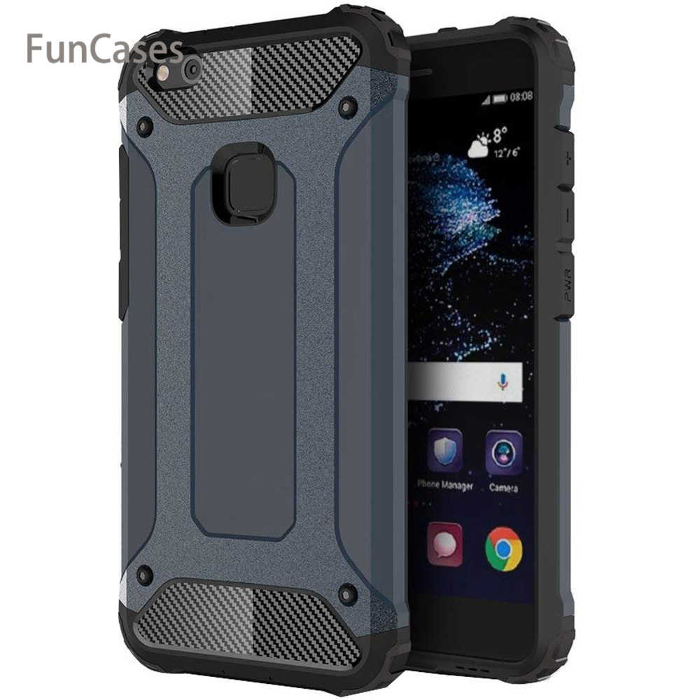 For Huawei P8 P9 P10 P20 Lite Pro Plus Case Cover Luxury Hard Armor Silicone Case for Huawei Honor 8X V8 V9 V10 Play Lite