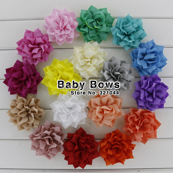Babymatch 500pcs/lot Fashion Handmade Winter Flowers Artificial Fabric Decorative Flowers For Girls Hair Accessories