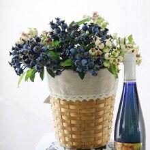 Крошечные искусственные ягоды богатый искусственный цветок ягоды стебли Холли рождественские ягоды для праздника домашнего декора