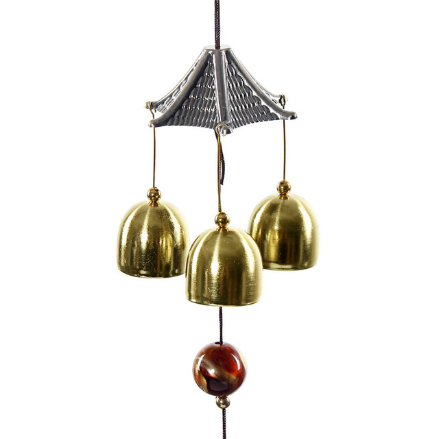Unique New Chinese style Big Sound Bronze Color Bells Wind Chimes vintage  ZP27