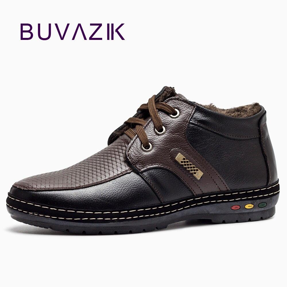 3f85e13bd6ec Męskie buty zimowe buty dla 2018 miękkie prawdziwej skóry śnieg Wodoodporne buty  i snowproof i antypoślizgowe