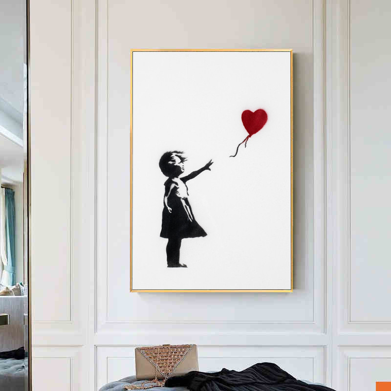 Banksy Flying Balloons Girl Street Art England Abstract Personality Drawing Room Decor Living Room Decor M1095Banksy Flying Balloons Girl Street Art England Abstract Personality Drawing Room Decor Living Room Decor M1095