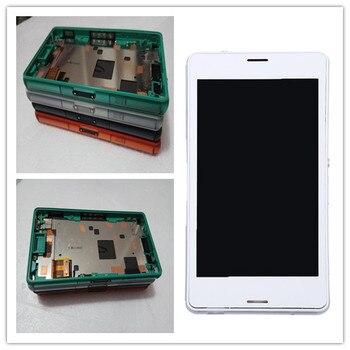 สำหรับSony Xperia Z3กระชับจอสัมผัสจอแอลซีดีD5803 D5833 Digitizer +กรอบสำหรับSony z3มินิเปลี่ยนหน้าจอ