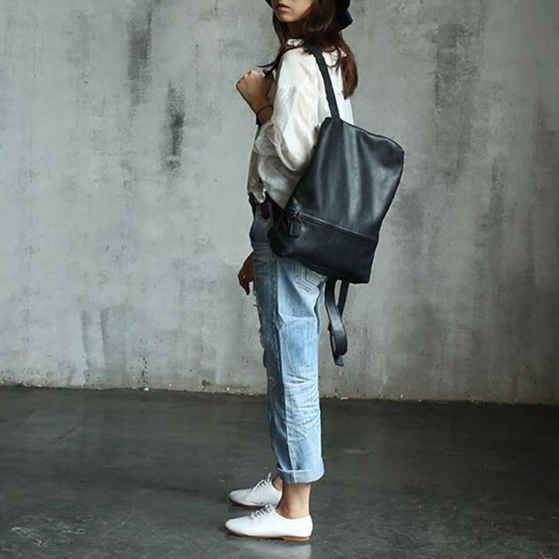 Vendange new fashion women vintage handmade preppy style brief genuine leather bag / knapsack2134L elisabetta franchi jeans свитер