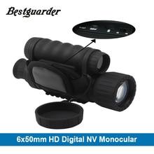Bestguarder WG 50 HD ナイトビジョン赤外線ナイトビジョン単眼 IR 望遠鏡 6 × 50 ズーム記録熱ナイトビジョン単眼