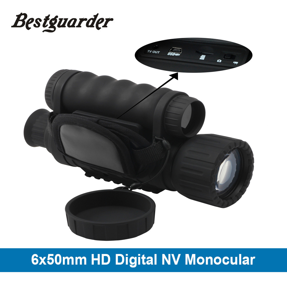 Bestguarder WG-50 HD vision nocturne Infrarouge de Vision Nocturne Monoculaire Télescope IR 6x50 Zoom Record thermique de vision nocturne monoculaire