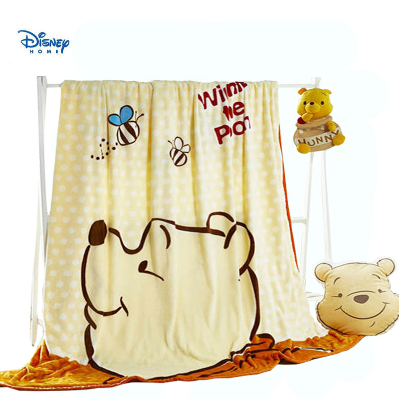 disney cartoon throw blanket sofa bed winnie the pooh flannel bed cover 200*230 cm queen size linen child Coral Fleece blankets
