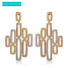 Buy dubai wedding decor and get free shipping on aliexpress mechosen paved micro zirconia 3 tones earrings for women junglespirit Choice Image